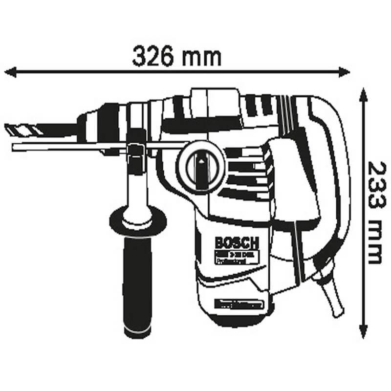 Kích thước nhỏ gọn máy khoan búa Bosch GBH 3-28 DRE