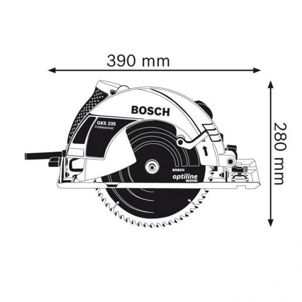 Bosch GKS 235 cung cấp các điều kiện thi công tốt hơn nhờ thiết kế nhỏ gọn