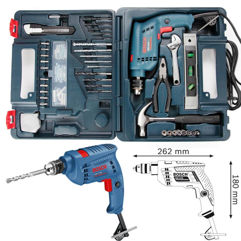 Kết quả hình ảnh cho Máy khoan động lực Bosch GSB 10 RE-SET