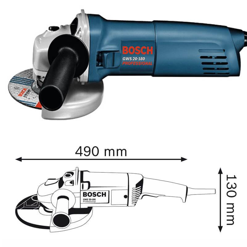 Máy Mài Góc Bosch GWS 20-180 Professional Chính Hãng Giá Cực Tôt