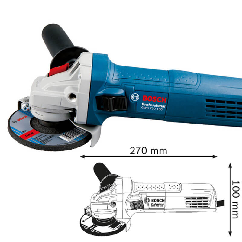 Máy Mài Góc Bosch GWS 750-100 Cầm Tay Nhỏ Gọn Đa Chức Năng