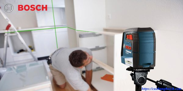 Máy cân mực laser tia xanh Bosch GLL 30 G giải pháp hiệu quả trong nhiều ngành nghề