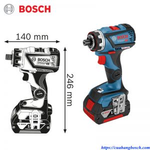 Máy khoan vặn vít cầm tay dùng pin Bosch GSR 18v-60 FC chính hãng cho hiêu quả cao trong công việc