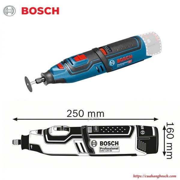 Máy cắt xoay đa năng Bosch GRO 12V-35 nhỏ gọn cho sự tiện lợi tối đa trong công việc