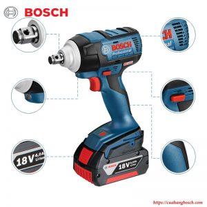 Thiết kế tiện lợi của dòng máy siết ốc động lực Bosch GDS 18v-ec 300 ABR