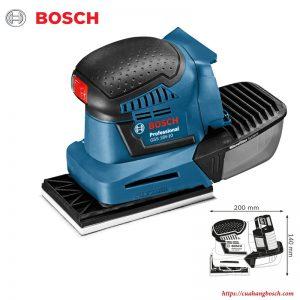 Thiết kế nhỏ gọn cho nhiều tiện ích của dòng máy chà nhám rung Bosch GSS 18v-LI