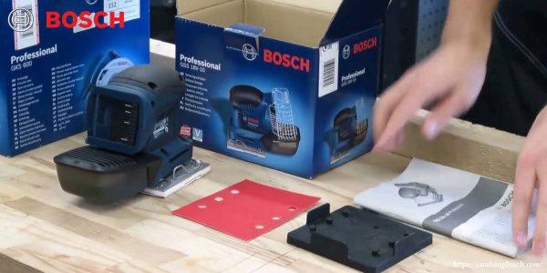 Hình ảnh thực tế dòng máy chà nhám vuông Bosch GSS 18v-LI solo