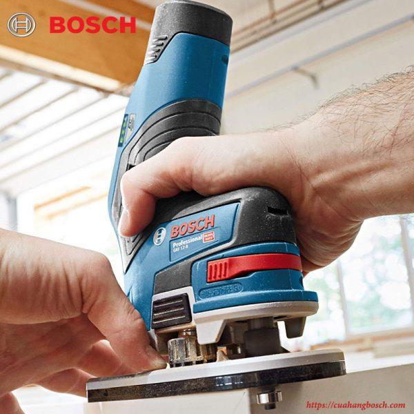 Thiết kế hiện đại cho nhiều sự tiện dụng của dòng máy phay Bosch GKF 12v-8
