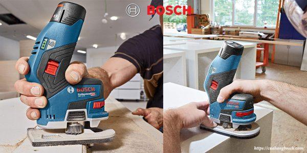 Hình ảnh thi công trong thực tế cùng dòng máy phay Bosch GKF 12v-8
