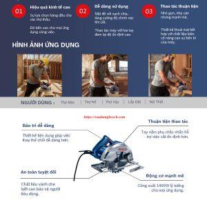 Đặc điểm nổi bật của dòng máy cưa đĩa Bosch GKS 140
