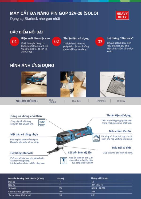 Đặc tính nổi bật của máy cắt Bosch GOP 12v-28 hiện đại