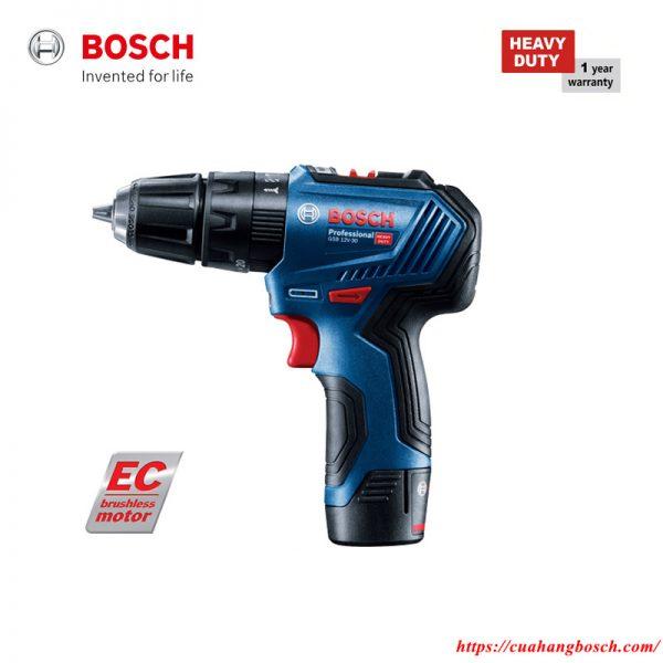 Máy khoan động lực dùng pin Bosch GSB 12V-30 hiện đại