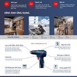 Đặc tính nổi trội của dòng máy khoan pin Bosch GSR 12V-30