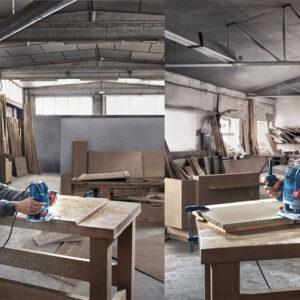 Bosch GOF 130 cung cấp khả năng ứng dụng đa dạng trong ngành gỗ