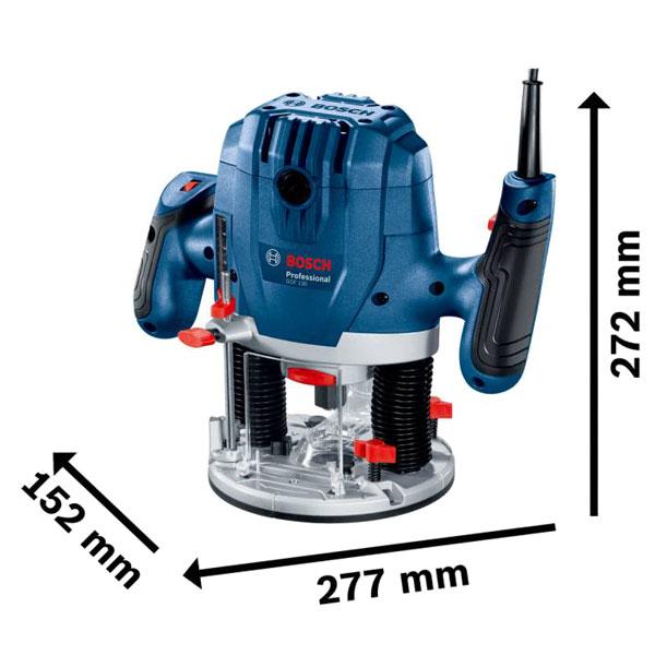 Kích thước thực tế dòng máy phay Bosch GOF 130 Professional