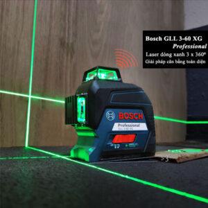Máy cân mực Bosch GLL 3-80 XG giải pháp cân bằng toàn diện cho công việc