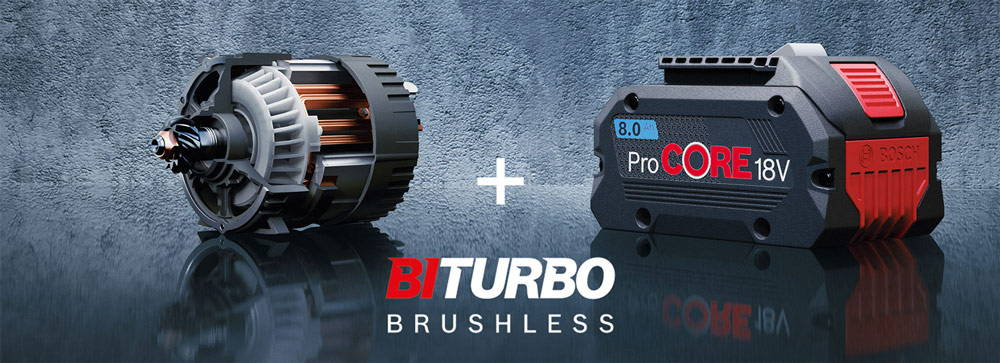 Công nghệ BITURBO mới trong máy siết ốc bu lông Bosch GDS 18V-1050 H