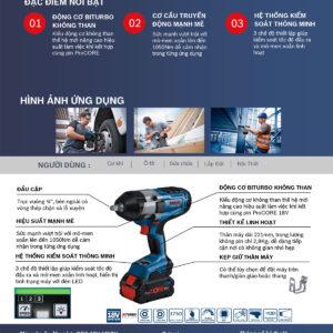 Đặc điểm nổi bật của dòng máy siết ốc Bosch GDS 18V-1050 H