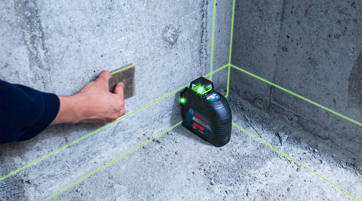 Máy cân mực laser xanh Bosch GLL 3-80 XG cung cấp các kết quả chính xác